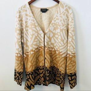 Pendleton Women Tan Open Shell Cardigan Sweater
